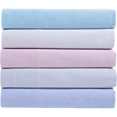 Hesse 200 Thread Count Cotton Sheet Set Color: Coral, Size: King