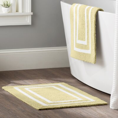Kipling 2 Piece Plush Bath Mat Set Color: Banana