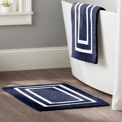 Kipling 2 Piece Plush Bath Mat Set Color: Denim Blue