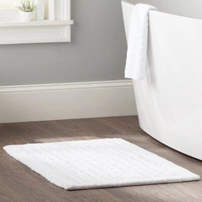 Fenimore Plush Solutions 2-Piece Bath Rug Set Color: White