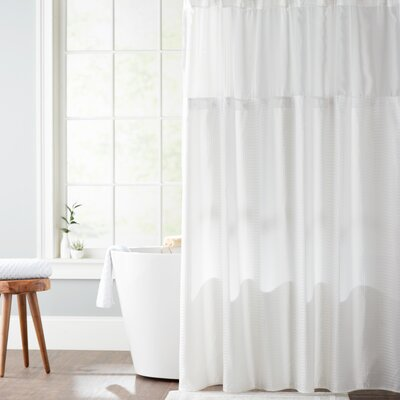 Foster Shower Curtain Color: White