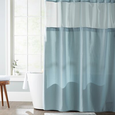 Foster Shower Curtain Color: Aqua