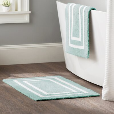 Kipling 2 Piece Plush Bath Mat Set Color: Aquatic Blue