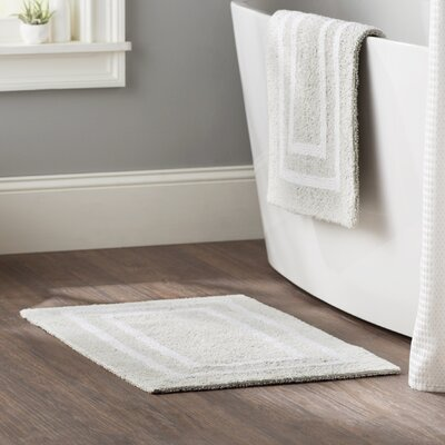 Kipling 2 Piece Plush Bath Mat Set Color: Gray Street