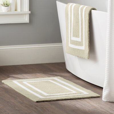 Kipling 2 Piece Plush Bath Mat Set Color: Ivory