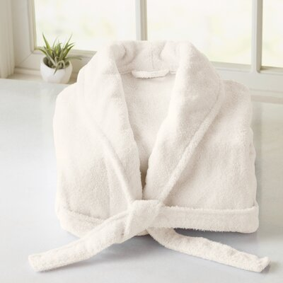 Burroughs Turkish Cotton Kimono Bathrobe Color: Ivory