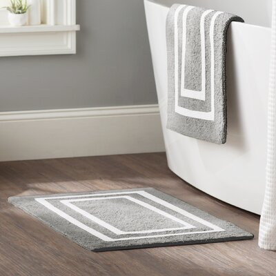 Kipling 2 Piece Plush Bath Mat Set Color: Gunmetal