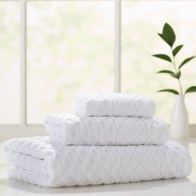 Flanagan 3 Piece Towel Set Color: White