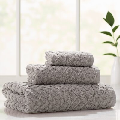 Flanagan 3 Piece Towel Set Color: Sand