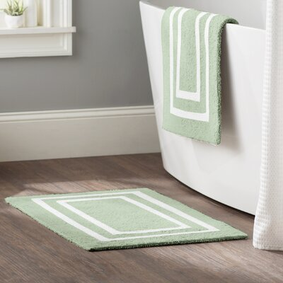 Kipling 2 Piece Plush Bath Mat Set Color: Mint