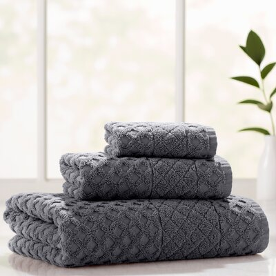 Flanagan 3 Piece Towel Set Color: Anthracite