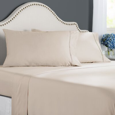 Clarke 300 Thread Count Cotton Sheet Set Size: Full, Color: Vanilla