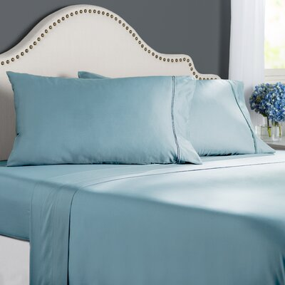 Clarke 300 Thread Count Cotton Sheet Set Color: Glacier, Size: Full