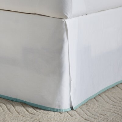 Moore Bed Skirt Size: Twin, Color: Seaside Aqua