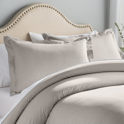 Hesse 3 Piece Reversible Duvet Cover Set Size: King, Color: Sand