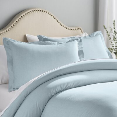 Hesse 3 Piece Reversible Duvet Cover Set Size: King, Color: Teal