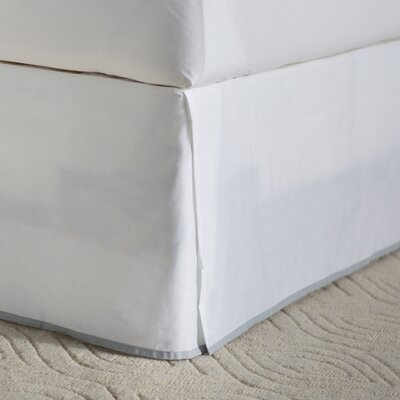 Moore Bed Skirt Size: Twin, Color: Pearl Gray