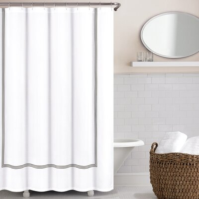 Miller Shower Curtain Color: Zinc