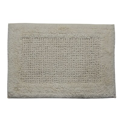Radcliffe 100% Cotton Naples Spray Latex Back Bath Rug Size: 24 H X 17 W, Color: Silver