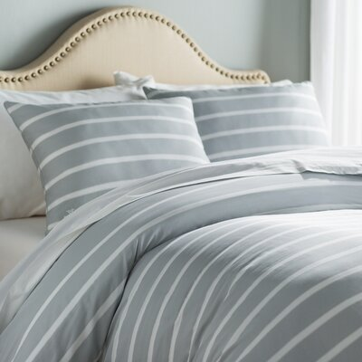 Andersen Duvet Cover Color: Pearl Gray, Size: Full/Queen