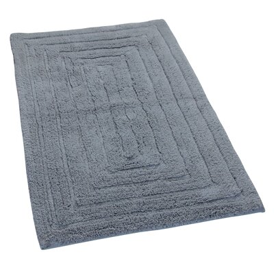 Irving 100% Cotton Racetrack Spray Latex Back Bath Rug Size: 34 H X 21 W, Color: Silver