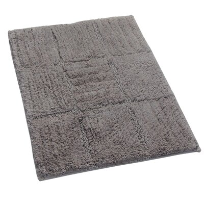 Conrad 100% Cotton Chakkar Board Spray Latex Back Bath Rug Size: 24 H X 17 W, Color: Stone