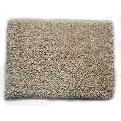 Eastcotts 100% Cotton Spray Latex Back Bath Rug Size: 24 H X 17 W, Color: Ivory