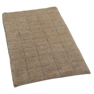 Proust 100% Cotton Summer Tile Spray Latex Back Bath Rug Size: 24 H X 17 W, Color: Natural