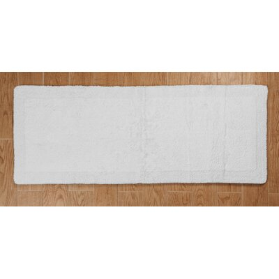 Golding 2 Piece 100% Cotton Bella Napoli Reversible Bath Rug Set Color: White, Size: 24 H X 17 W and 34 H X 21 W