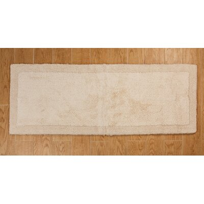 Golding 100% Cotton Bella Napoli Reversible Bath Rug Color: Ivory, Size: 60 H X 22 W