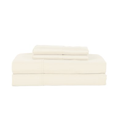 Hobbes 450 Thread Count Egyptian Quality Cotton Sheet Set Size: Queen, Color: Ivory