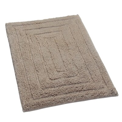 Irving 100% Cotton Racetrack Spray Latex Back Bath Rug Size: 24 H X 17 W, Color: Natural