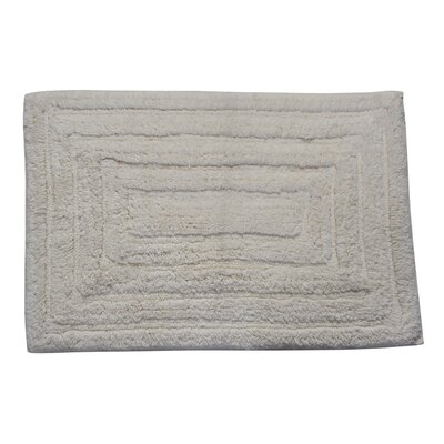 Irving 100% Cotton Racetrack Spray Latex Back Bath Rug Color: Ivory, Size: 34 H X 21 W