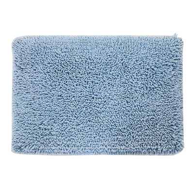 Keats 100% Cotton Melbourne Spray Latex Back Bath Rug Size: 24 H X 17 W, Color: Light Blue