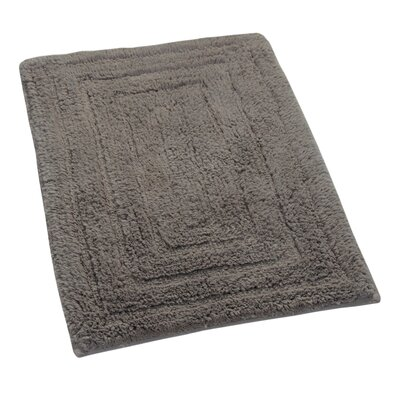 Irving 100% Cotton Racetrack Spray Latex Back Bath Rug Size: 24 H X 17 W, Color: Stone