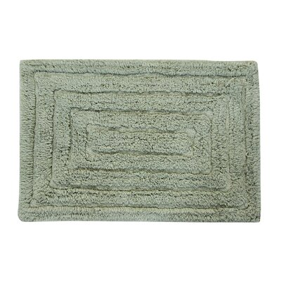 Irving 100% Cotton Racetrack Spray Latex Back Bath Rug Size: 34 H X 21 W, Color: Light Sage
