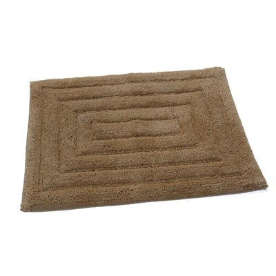 Irving 100% Cotton Racetrack Spray Latex Back Bath Rug Size: 24 H X 17 W, Color: Taupe