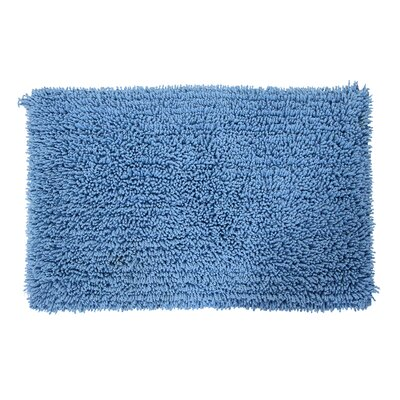 Eastcotts 100% Cotton Spray Latex Back Bath Rug Size: 30 H X 20 W, Color: Medium Blue