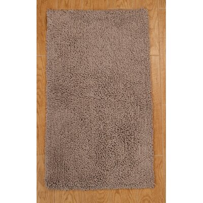 Keats 100% Cotton Melbourne Spray Latex Back Bath Rug Size: 24 H X 17 W, Color: Silver