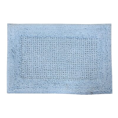 Radcliffe 100% Cotton Naples Spray Latex Back Bath Rug Color: Light Blue, Size: 40 H X 24 W