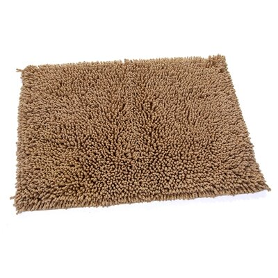 Keats 100% Cotton Melbourne Spray Latex Back Bath Rug Color: Taupe, Size: 30 H X 20 W