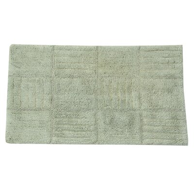 Conrad 100% Cotton Chakkar Board Spray Latex Back Bath Rug Color: Light Sage, Size: 40 H X 24 W
