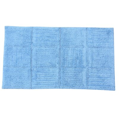 Conrad 100% Cotton Chakkar Board Spray Latex Back Bath Rug Size: 40