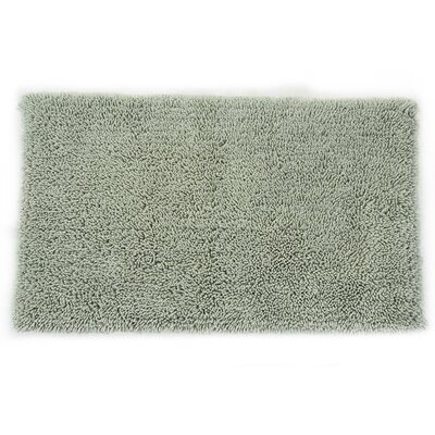 Eastcotts 100% Cotton Spray Latex Back Bath Rug Size: 24 H X 17 W, Color: Light Sage
