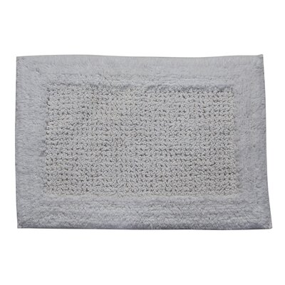 Radcliffe 100% Cotton Naples Spray Latex Back Bath Rug Size: 40 H X 24 W, Color: White