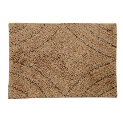 Barnes Diamond Bath Rug Color: Taupe, Size: 40 H X 24 W
