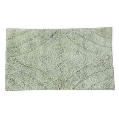 Barnes Diamond Bath Rug Color: Light Sage, Size: 34 H X 21 W