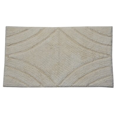 Barnes Diamond Bath Rug Color: Ivory, Size: 34 H X 21 W
