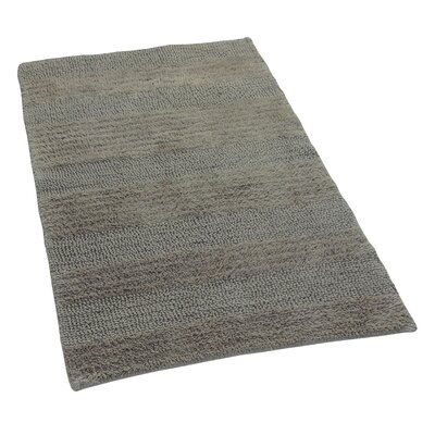 Verne 100% Cotton Wide Cut Reversible Bath Rug Color: Stone, Size: 24 H X 17 W