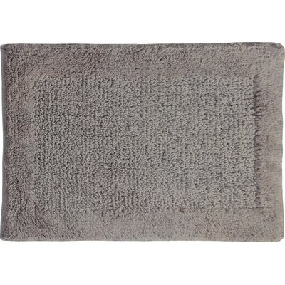 Radcliffe 100% Cotton Naples Spray Latex Back Bath Rug Color: Stone, Size: 34 H X 21 W